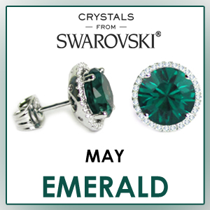 swarovski stud earrings may birthstone earrings fashion jewelry sets birthday gifts for women cz