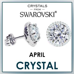 swarovski stud earrings april birthstone earrings fashion jewelry sets birthday gifts for women cz