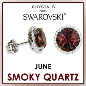 swarovski stud earrings june birthstone earrings fashion jewelry sets birthday gifts for women cz