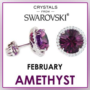swarovski stud earrings february birthstone earrings fashion jewelry sets birthday gifts for women