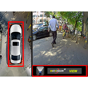 weivision 360 bird view eye view system arround view backup reverse camera ford bmw toyota audi