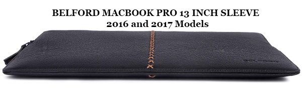 natural genuine leather MacBook pro 13 inch sleeve 2016 2017 touch bar