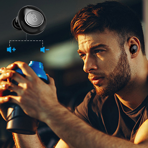 Wireless Earbuds Volume Control