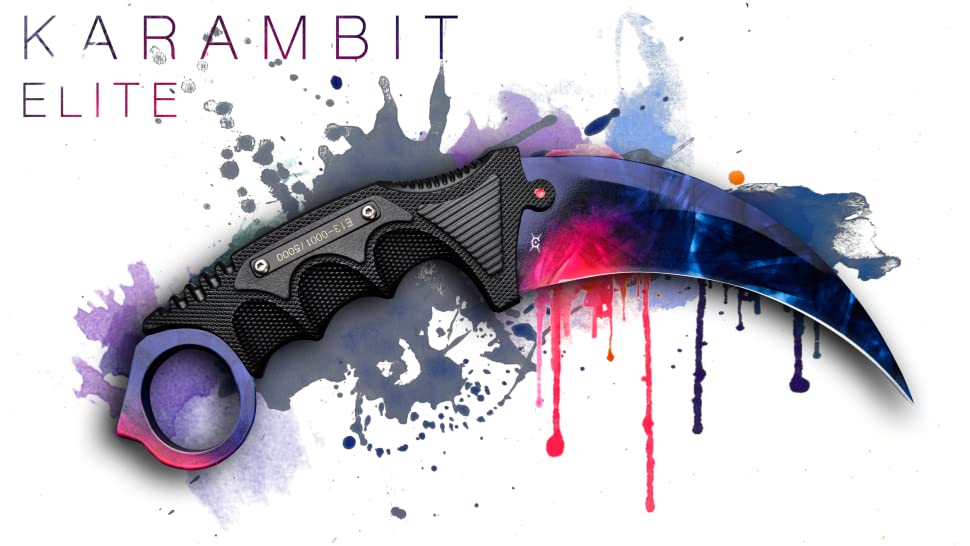 FadeCase Karambit Elite Fixed Blade Tactical Knife Collectible Skins Variation