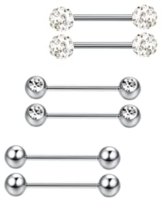 Different types of nipple piercings