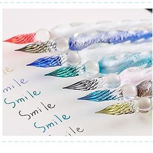 glass pen ink blue