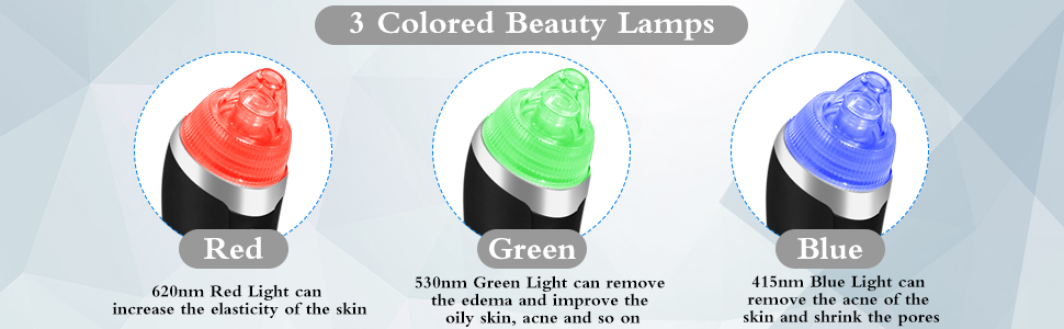 3 Colored Beauty Lamps