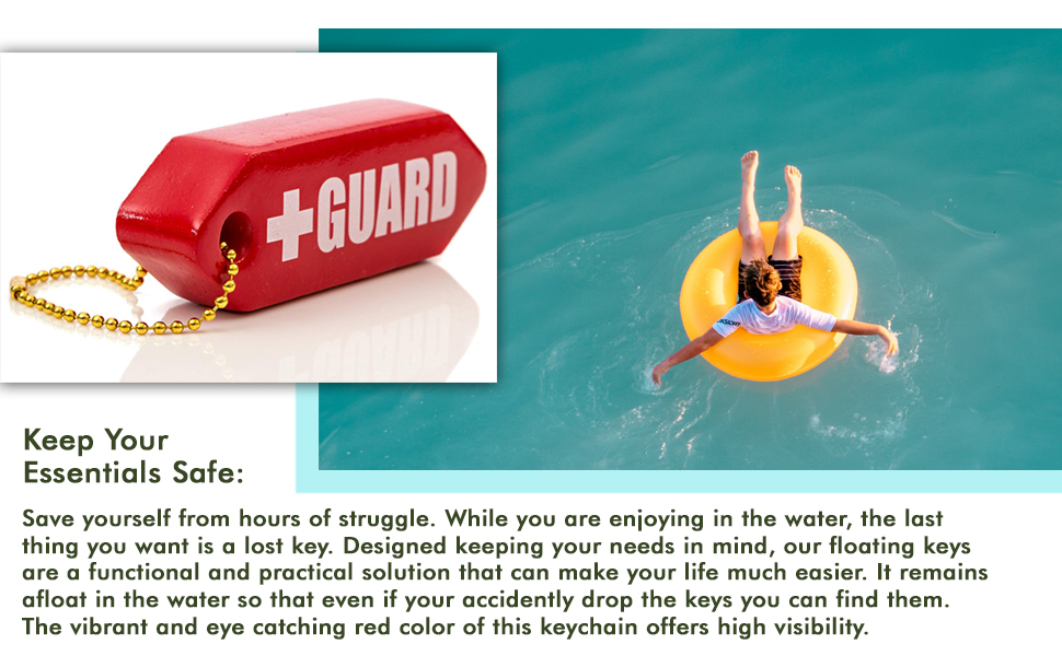 BLARIX Guard Rescue Tube Float Keychain Floating Key Chains