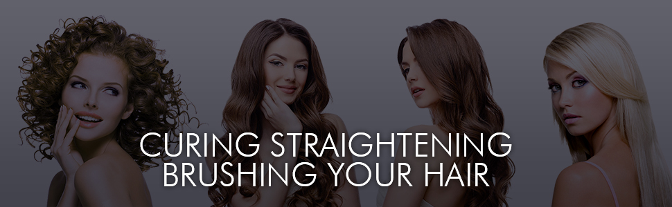 curling straightening brushing