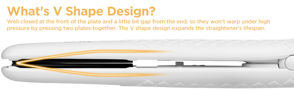v shape design