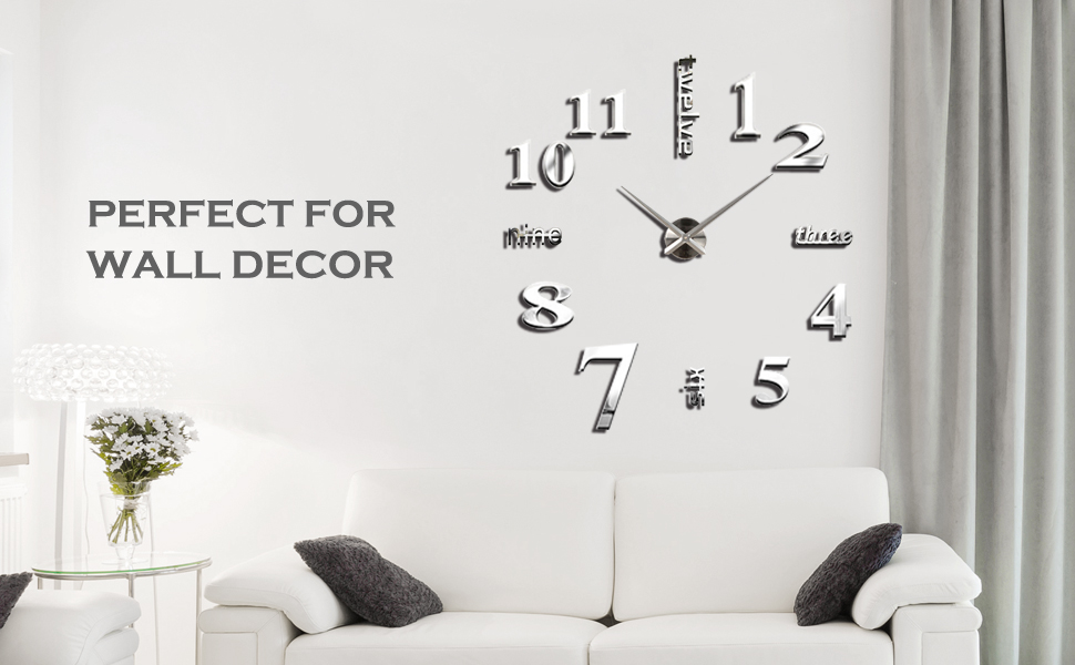 Home is not the container of dull and dry but the best place to enjoy the life this simple stylish large wall clock makes your home full of elegance