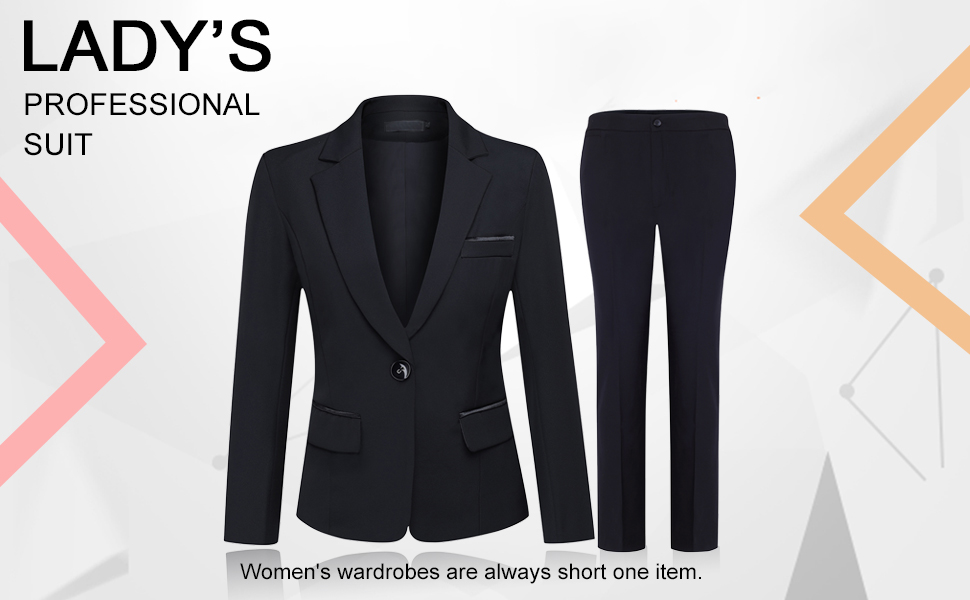 0626931d86046 Amazon.com  Women s 2 Piece Office Lady Business Suit Set Slim Fit ...