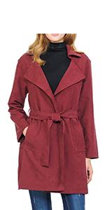Auliné Collection Womens Peach Skin Asymmetrical Drawstring Lightweight Anorak Jacket