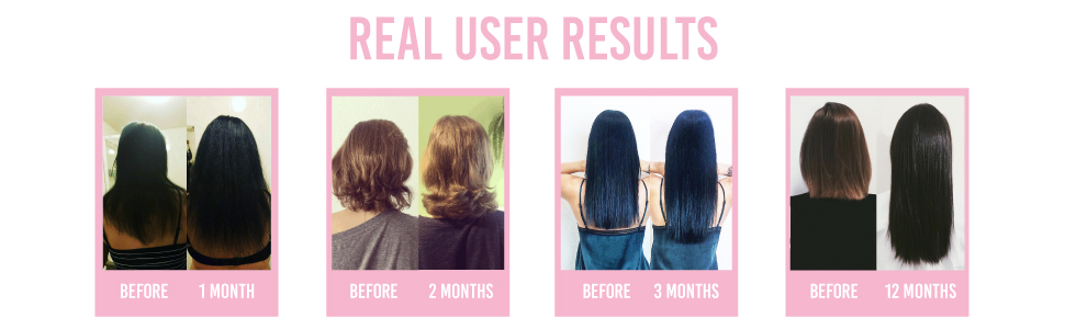 Actual results you can achieve from using our Hairburst products