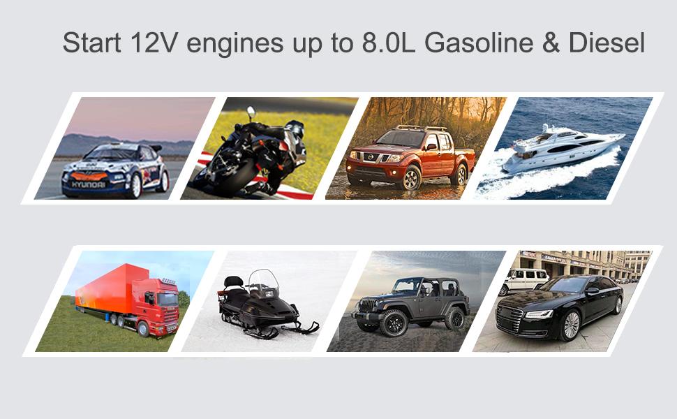 start 8L Gasoline and diesel