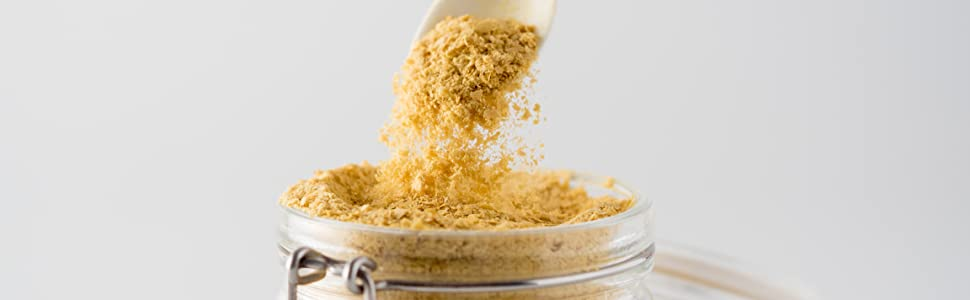 brewer's yeast powder for smoothies, nursing, lactation cookies, breastfeeding