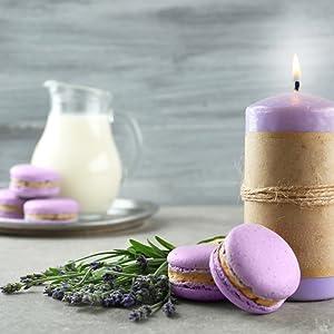 fresh lavender macaroons baking