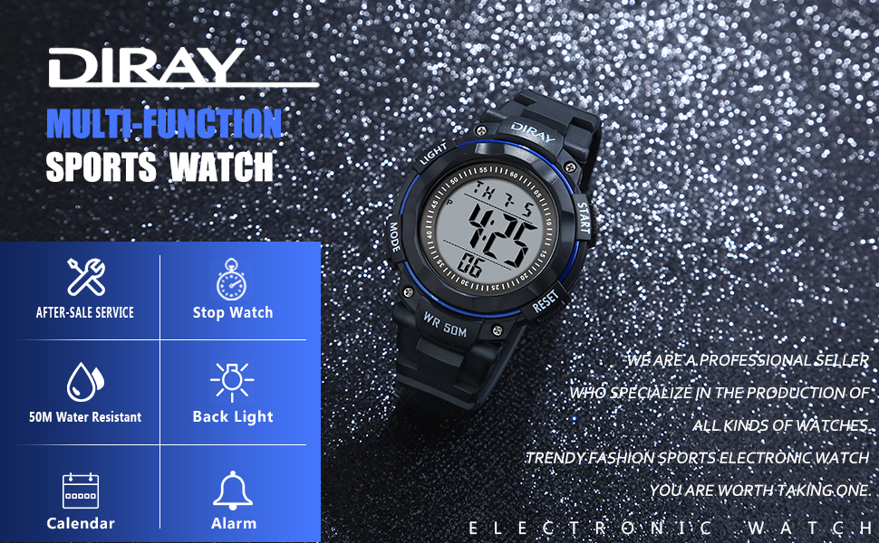 DIRAY multi-function sports watch