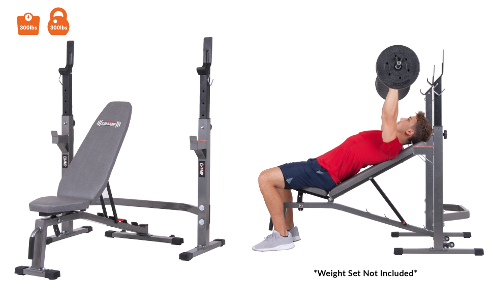 Amazon Com Body Champ Two Piece Set Olympic Weight Bench