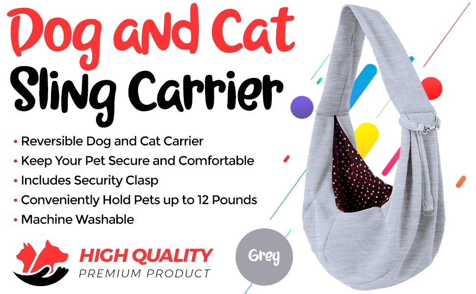 a2a09064e3 Amazon.com   iPrimio Dog and Cat Sling Carrier - Hands Free ...