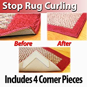 Rug Gripper And Prevents Rug Corner Curling