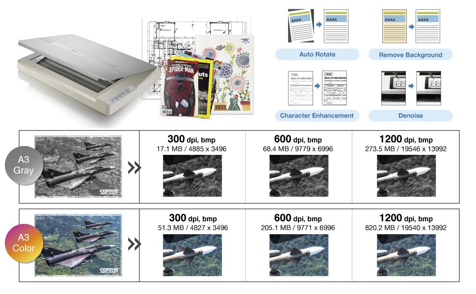 Amazon.com: Plustek OS 1180 Escáner plano A3, Formato ...