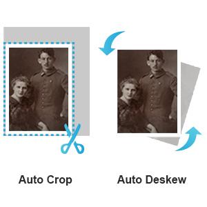 auto crop - deskew