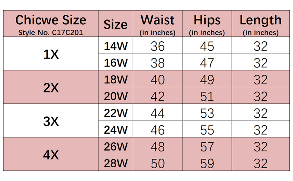 Chicwe Women S Plus Size Stretch Long Tailored Calf Length Pencil Skirt Elastic Waistband