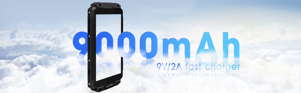 long standby, power bank smartphone, 9000 mAh battery, big battery smartphone, powerful smartphone
