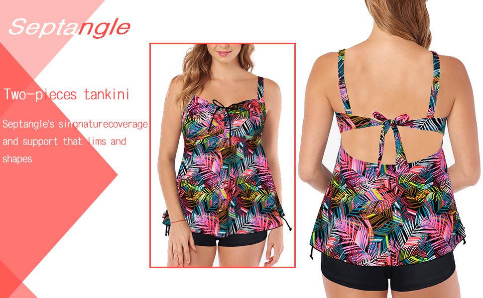 a820579151f Amazon.com: Septangle Women's Plus Size Bathing Suits Paisley Print ...