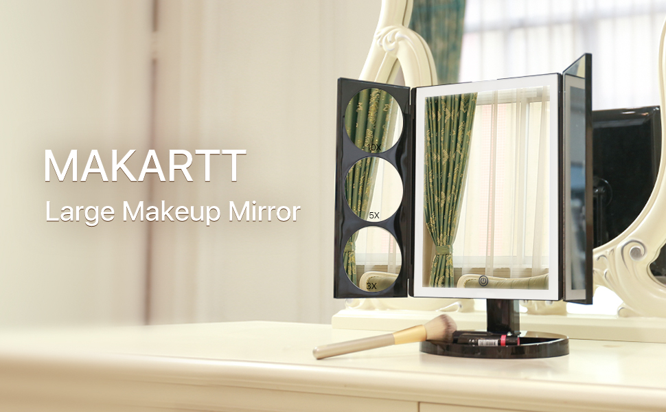 Amazoncom Makartt Cosmetic Lighted Mirror 3x5x10x Xlarge