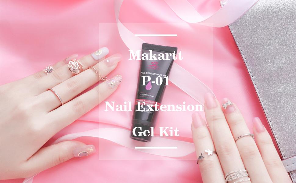 bf83c8fa89 Amazon.com: Makartt P-01 Nail Extension Gel Kit Nail Enhancement ...