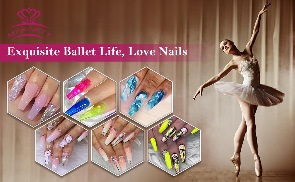 Makartt coffin nails ballerina nails