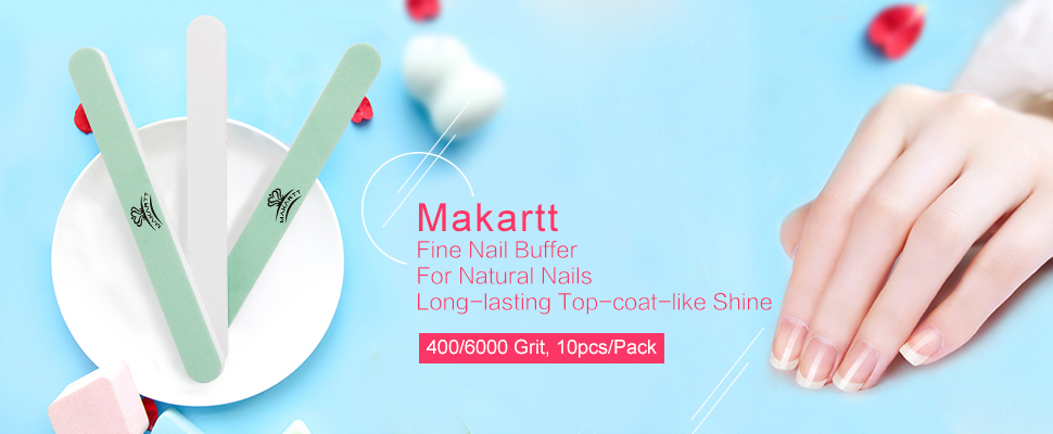 Amazon.com : MAKARTT Fine Nail Buffer File Polisher Smooth and Shiny ...