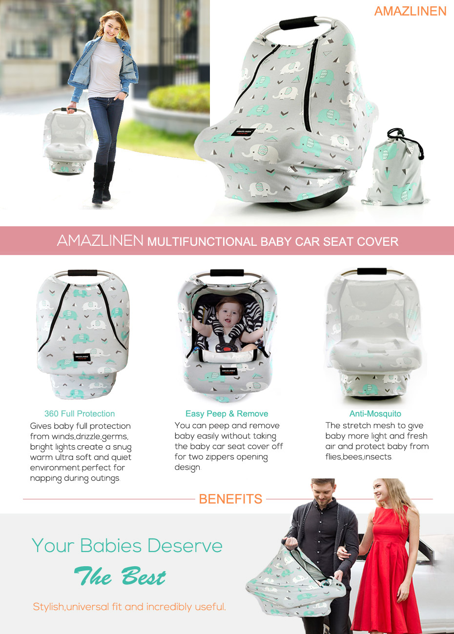 SAFETY WARNING FOR AMAZLINEN BABY CAR SEAT COVERS