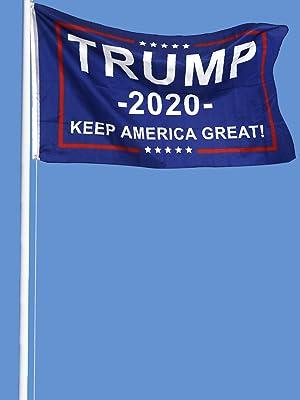 trump flag fly in sky