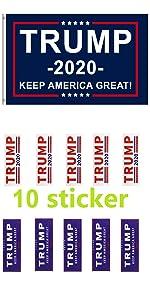 Trump flag with sticker trump sticker 2020 sticker