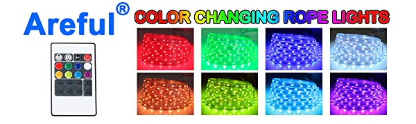LED RGB color changing rope lights