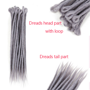 Dreadlock hair extension synthetic
