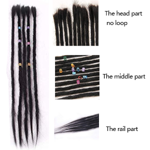 human hair dreadlocks extension