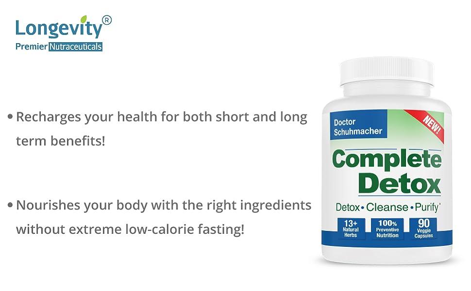 Longevity detox formula complete detox solution