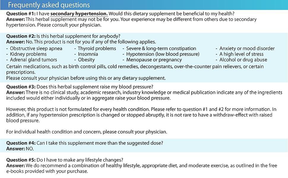 Blood Pressure supplement