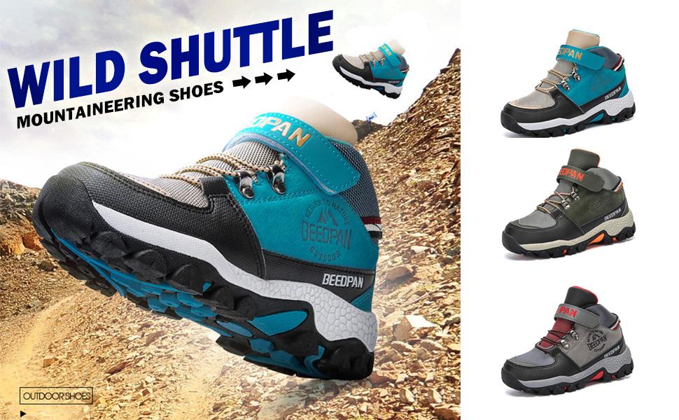 zapatos de aventura al aire libre. JABASIC Zapatos de senderismo impermeables para ni/ños y ni/ñas