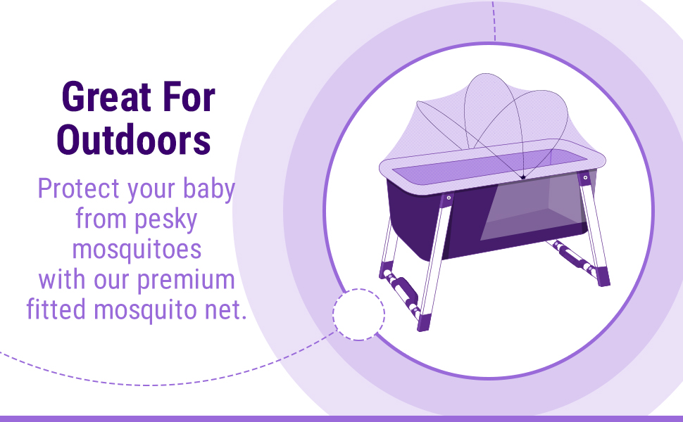 bassinet portable crib cradle baby kids newborn child travel rock