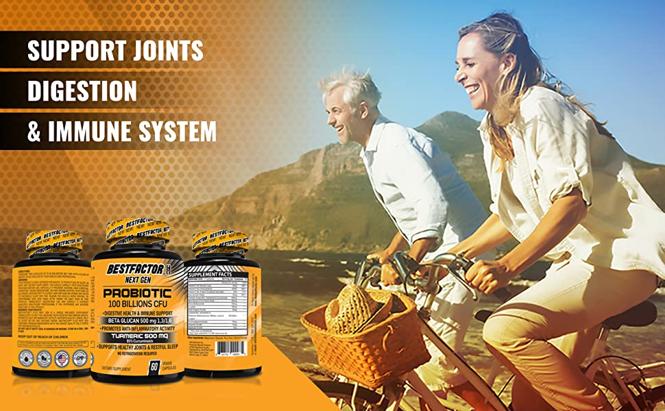 probiotics for women | immune support | joints pain | digestive health | turmeric supplement