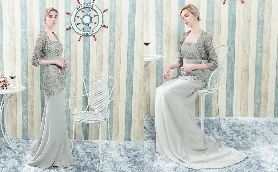 Amazon.com: Vestido largo para la madre de la novia ...