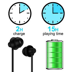 2 Hours Charge for 15 Hours Music Time
