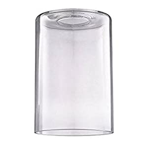 clear cylindrical glass shade amazon com