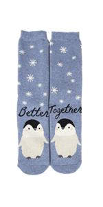 Light Blue Penguins Socks