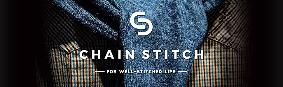 Chain Stitch Men's Long Sleeve Oxford Chambray Button-Down Casual Shirt